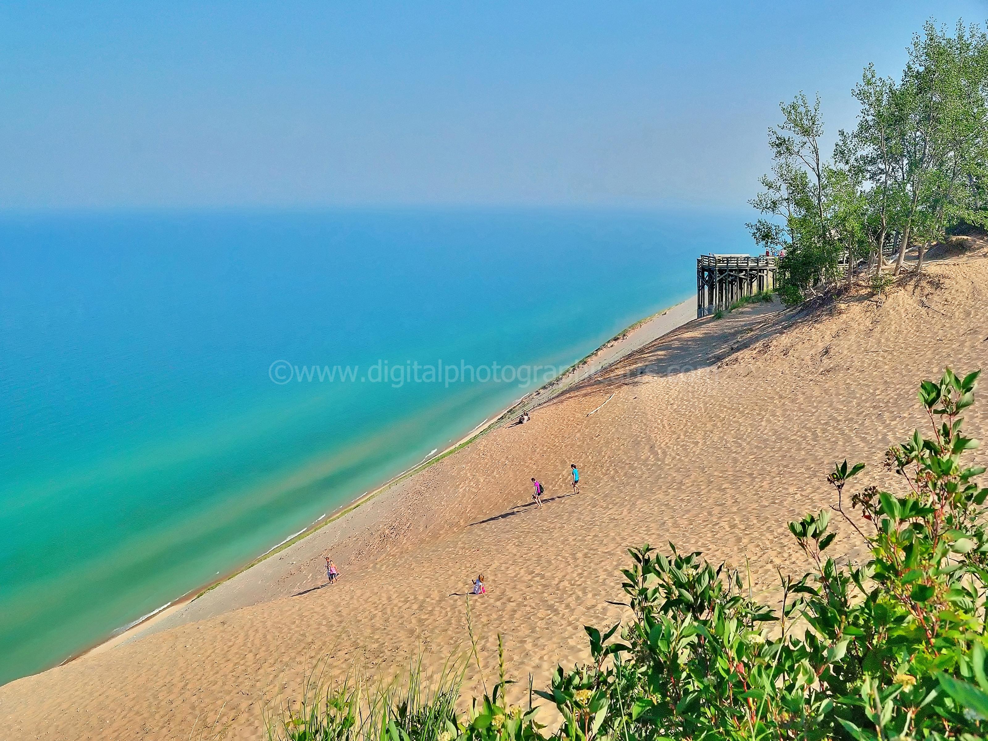Sleeping Bear Dunes National Lakeshore Coastline Great Lakes Lake Michigan Landscape
